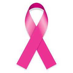 Icon symbol struggle and awareness against breast cancer, pink ribbon