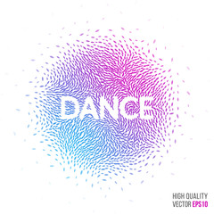 Dance beautiful design element for greeting card template layout