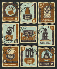 set of Postage Stamps on the theme of coffee