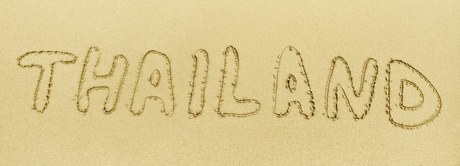 Inscription on the sand - Thailand