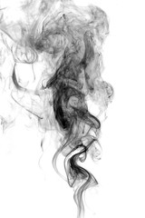Abstract white smoke on white background.