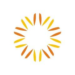 Logo abstract star symbol vector