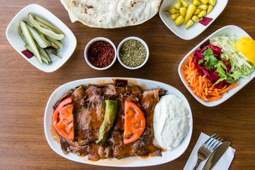 iskender / Traditional Turkish kebab with yoghurt