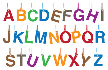Alphabets Hanging Accessories Vector Illustration