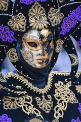Venice Carnival 2016 mask model from the Venetian island of Bura