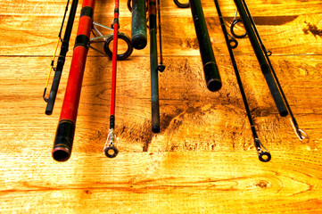 Top of fishing rods