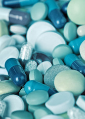 Medical pills close-up