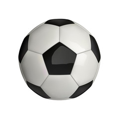 Vector illustration . Football. Soccer ball naturalistic classic 3d icon isolated on white background.