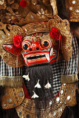 Costume of Barong for a traditional Balinese dance
