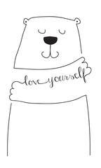 love yourself  bear hug