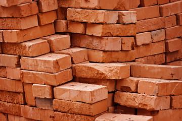 Construction material - stack of bricks Wall mural