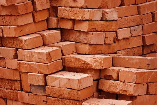 Construction material - stack of bricks