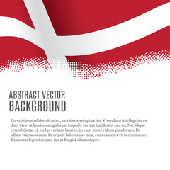 Vector background with Danish flag and copy space