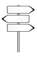 panneau de direction