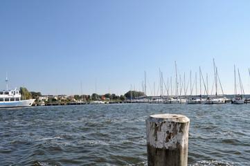 Ausflugsschiff, Segelschiffe, Hafen Breege,