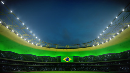 stadium with fire for the big games. 3d rendering