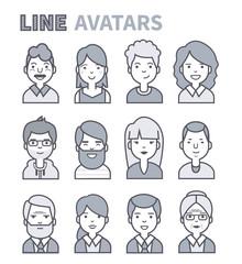 Line avatars