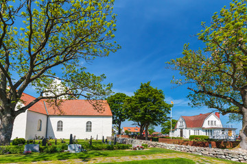 View at the historic Swedish village of Kristianopel