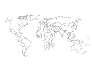 Wall Mural - Political World Map