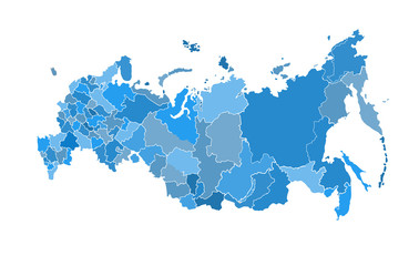 Wall Mural - Russia map