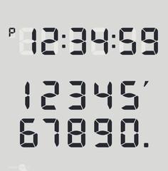 Digital clock & number set