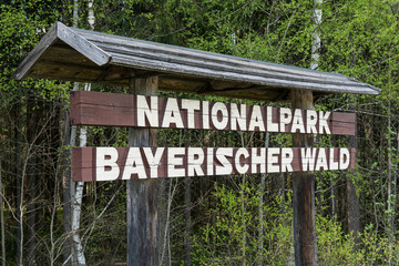 Schild Bayerischer Wald