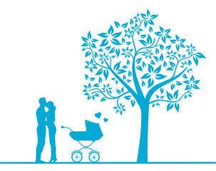 Eltern Liebe Kinderwagen
