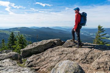 Wanderer mit Aussicht