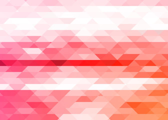 Bright triangles, abstract background