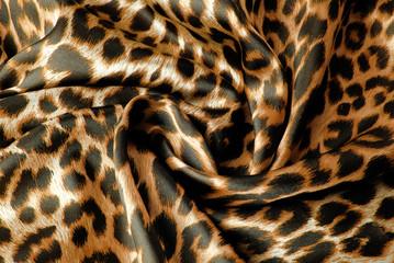 closeup of the leopard print fabric texture
