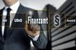 Finanzamt touchscreen konzept hintergrund