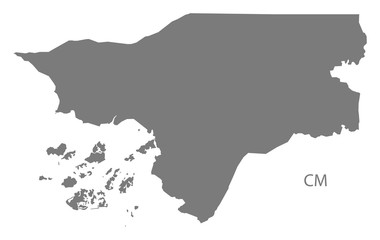 Guinea-Bissau Map grey