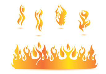 flame illustration design