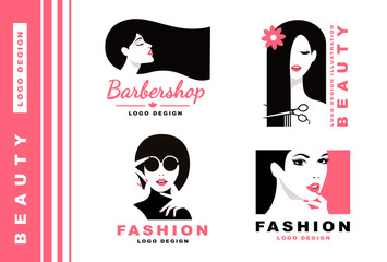 Logo Collection. Cosmetics and fashion