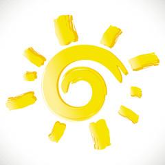 soleil jaune été symbole chaleur