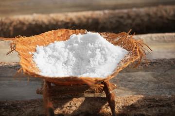 Salt production - traditional way. Bali, Indonesia
