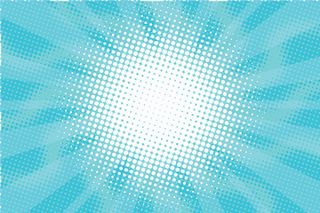 Blue Sunny haze pop art retro vector background Fototapete