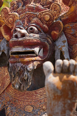 Ancient Sculpture of the Mythical Balinese Barong