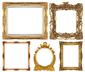 Set of Vintage gold picture frame