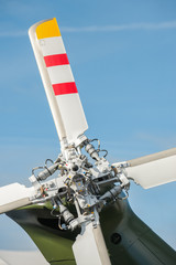Fototapete - close-up of helicopter rotor blades