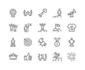 Line Winning Icons