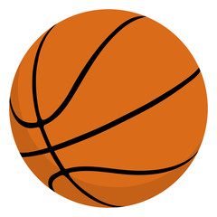 Basketball ball isolated. Vector illustration for web.