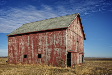 old barn in rural Christian County IL.