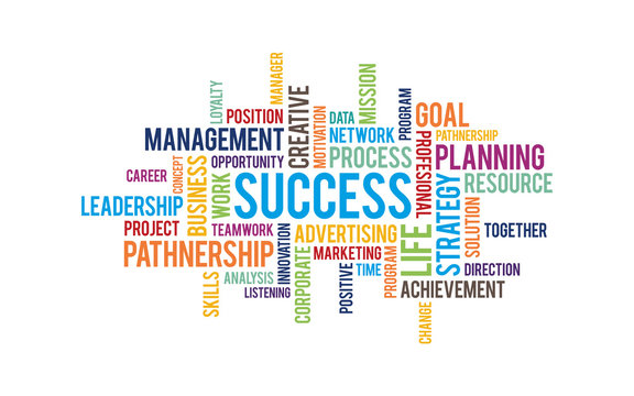 Success word cloud background