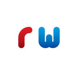 rw logo initial blue and red