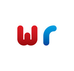 wr logo initial blue and red
