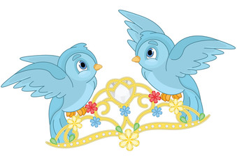 Blue Birds and Tiara