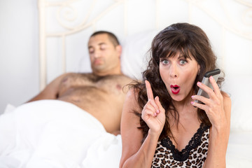 Mature Woman Makes a Shameful Call after Sexual Conquest