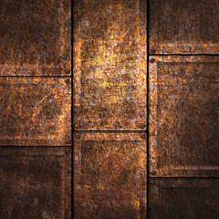 grunge metal plate 3d illustration.