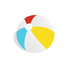 Colorful ball icon in isometric 3d style on a white background